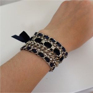 Juicy Couture Navy & Silver Bracelet